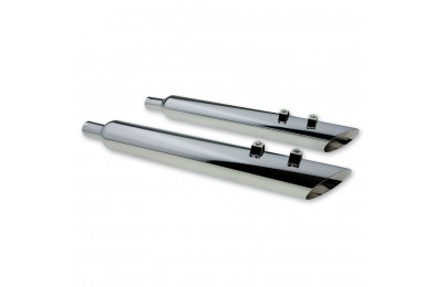 "Black Friday Sale - Full Boar Exhaust Angle Cut Slip-On Muffler with 2.5"" Baffle - JAC31230MC250"