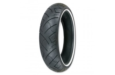 Black Friday Sale - Shinko 777 100/90-19 Wide Whitewall Front Tire - 87-4588