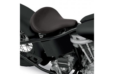 Black Friday Sale - Drag Specialties Large Spring Solo Seat with Black Solar-Reflective Leather Smooth - 08060052