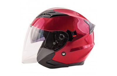 Black Friday Sale - Zox Journey Wineberry Open Face Helmet - 88-33674
