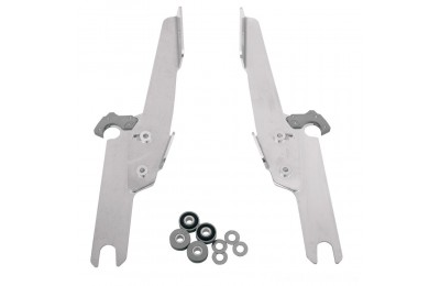 Black Friday Sale - Memphis Shades Fats/Slims/Batwing Fairing Polished Trigger Lock Mount Kit - MEK1913