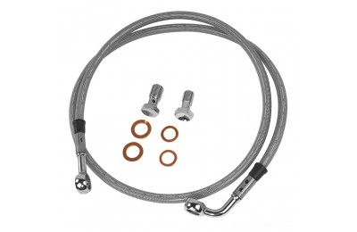 Black Friday Sale - Twin Power Front Stainless Steel Braided Brake Line Kit Stock Length - 035851