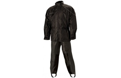 Black Friday Sale - Nelson-Rigg AS-3000 Aston Black 2-piece Rain Suit - AS3000BLK04XL