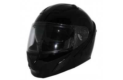 Black Friday Sale - Zox Brigade SVS Gloss Black Modular Helmet - Z88-30704