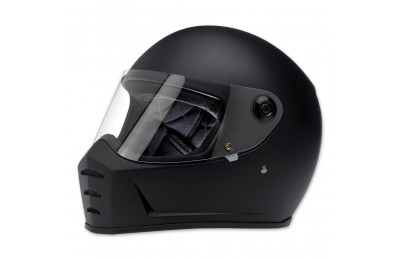 Black Friday Sale - Biltwell Inc. Lane Splitter Flat Black Full Face Helmet - 1004-201-104