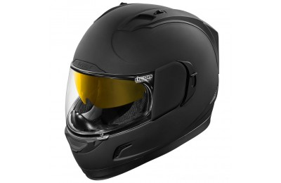 Black Friday Sale - ICON Alliance GT Rubatone Black Full Face Helmet - 0101-8856