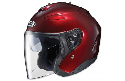 Black Friday Sale - HJC IS-33 II Metallic Wine Open Face Helmet - 0833-0211-06