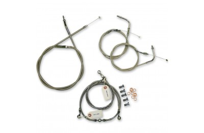 Black Friday Sale - LA Choppers Stainless Cable/Brake Line Kit for 12″-14″ Bars - LA-8100KT-13