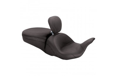 Black Friday Sale - Mustang One-Piece LowDown Touring Seat with Backrest - 79703