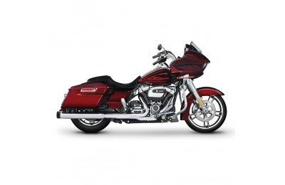 "Black Friday Sale - Rinehart Racing 4"" Slip-On Mufflers Chrome with Black End Caps - 500-0106"