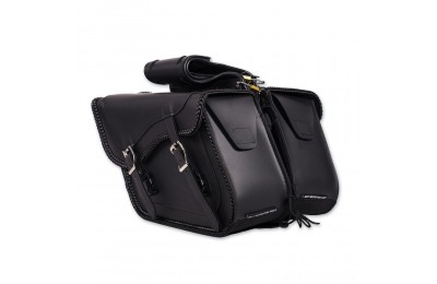 Black Friday Sale - Dream Apparel Saddlebag & Accessory Plain Throwover Zip-Off Saddlebags - SD4065-NS-PV