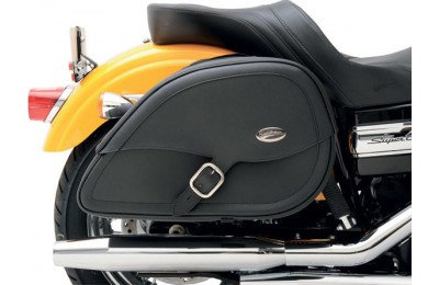 Black Friday Sale - Saddlemen Drifter Teardrop Saddlebag with Shock Cutaway - 3501-0459