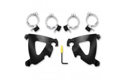 Black Friday Sale - Memphis Shades Road Warrior Fairing Black Trigger Lock Mount Kit - MEB2028