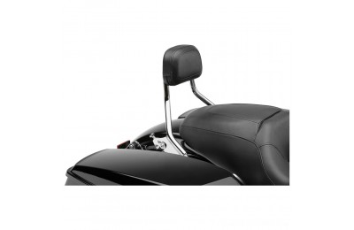"Black Friday Sale - Cobra Chrome Quick Detachable 14"" Round Bar Sissy Bar with Backrest - 602-2200"