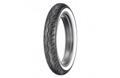 Black Friday Sale - Dunlop D401 100/90-19 Wide Whitewall Front Tire - 45064215