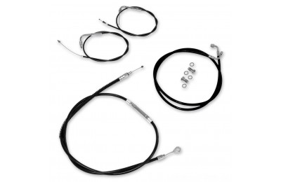 Black Friday Sale - LA Choppers Black Cable/Brake Line Kit for 12″-14″ Bars - LA-8010KT-13B