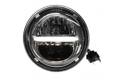 "Black Friday Sale - PathfinderLED 7"" Classic Styling LED Headlight Chrome - HD7CLC"