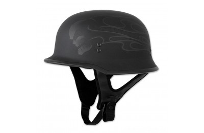 Black Friday Sale - FLY Racing Street 9MM Ghost Flame Black Half Helmet - 73-8222X