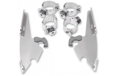 Black Friday Sale - Memphis Shades Batwing Fairing Polished Trigger Lock Mount Kit - MEK1970