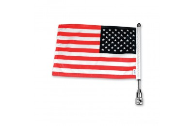 Black Friday Sale - Pro Pad Tour Pack Solid Flag Mount with 6″ x 9″ American Flag - RFM-FXD3