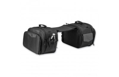 Black Friday Sale - Kuryakyn Black Momemtum Outrider Throw-Over Saddlebags - 5209