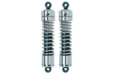 "Black Friday Sale - Progressive Suspension 412 Chrome 12"" Heavy Duty Shocks - 412-4044C"