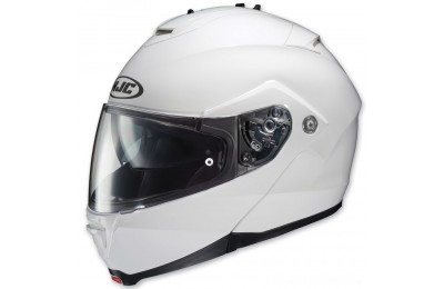 Black Friday Sale - HJC IS-MAX II White Modular Helmet - 980-146