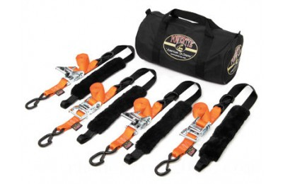 Black Friday Sale - PowerTye Fat Strap Ratchet Tie-down Kit - TRAILERKIT-89