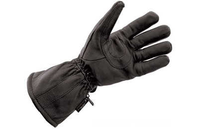 Black Friday Sale - J&P Cycles Black Deerskin Waterproof Gloves - NG828TLWP-L