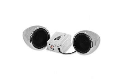 "Black Friday Sale - Boss Audio Systems 600 Watt Bluetooth 3"" Chrome Speaker Kit - MC420B"