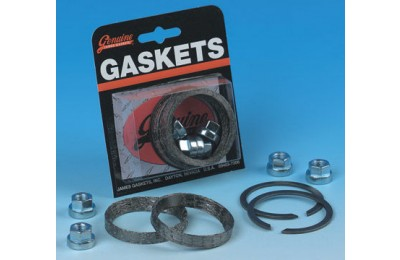 Black Friday Sale - Genuine James Exhaust Gasket Kit with Tapered Profile Gaskets - JGI-65324-83-KWG2