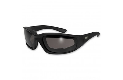 Black Friday Sale - Global Vision Eyewear Kickback Padded Sunglasses with Smoke Lens - KICKBACK SMK