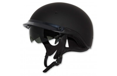 Black Friday Sale - Zox Roadster DDV Matte Black Half Helmet - Z88-00463