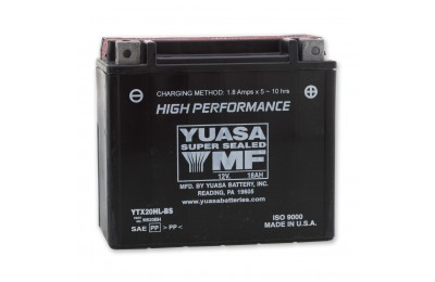 Black Friday Sale - Yuasa High-Performance Maintenance Free Battery - YTX20HL-BS replaces type YTX20L-BS