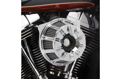 Black Friday Sale - Arlen Ness Inverted Series 10-Gauge Chrome Air Cleaner Kit - 18-942