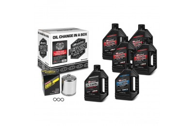 Black Friday Sale - Maxima Synthetic 20W-50 Complete Oil Change Kit with Chrome Filter - 90-119016PC