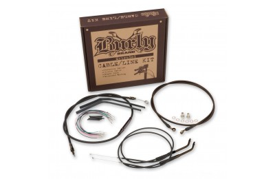 "Black Friday Sale - Burly Brand Black 14"" Ape Hanger Cable/Brake/Wiring Kit - B30-1004"