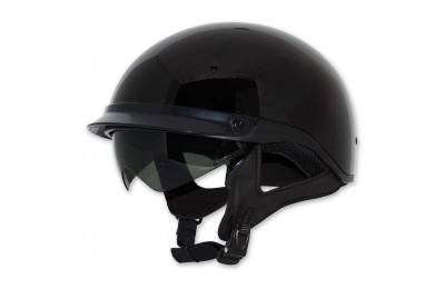 Black Friday Sale - Zox Roadster DDV Black Half Helmet - Z88-00454