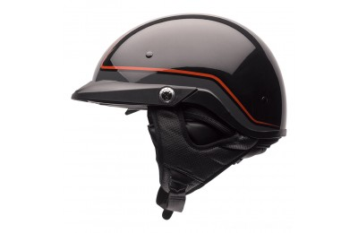 Black Friday Sale - Bell Pit Boss Pinstripe Orange Half Helmet - 7070069