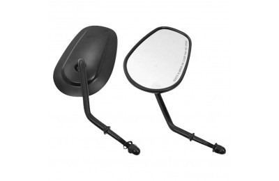 Black Friday Sale - Biker's Choice Tapered Short Stem Mirrors Black - 70237