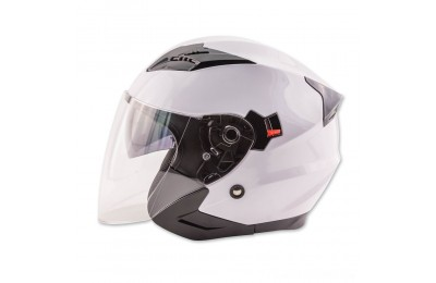 Black Friday Sale - Zox Journey White Open Face Helmet - 88-33652