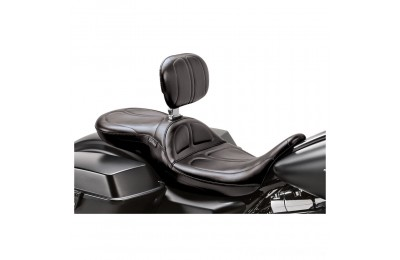 Black Friday Sale - Le Pera Maverick Stitch 2-Up Seat with Driver Backrest - LK-957BR