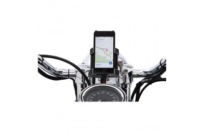 "Black Friday Sale - Ciro Smartphone/GPS Holder with Chrome 7/8""-1"" Bar Mount - 50312"