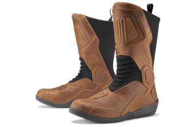 Black Friday Sale - ICON Men's Joker Waterproof Brown Leather Boots - 3403-0967