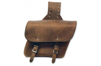 Black Friday Sale - Leatherworks, Inc. Distressed Brown Throwover Saddlebags - 404T