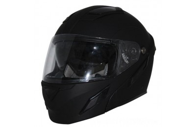 Black Friday Sale - Zox Brigade SVS Matte Black Modular Helmet - Z88-30715