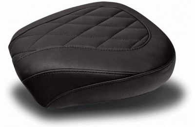 Black Friday Sale - Mustang Black Wide Tripper Passenger Seat with Diamond Stitching - 76695