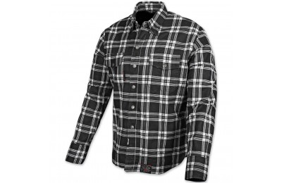 Black Friday Sale - Speed and Strength Black Nine Black/White Flannel Moto Jacket - 878046