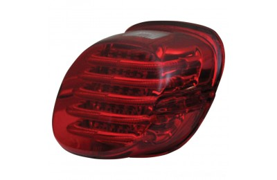 Black Friday Sale - Custom Dynamics ProBEAM Low Profile LED Taillight w/ Window, Red - PB-TL-LPW-R
