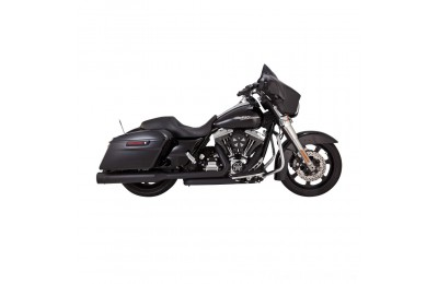 Black Friday Sale - Vance & Hines Titan OverSized 450 Slip Ons Black with Black End Caps - 46549